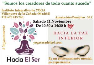Curso de milagros. Yoga Casa del Sol Villanueva de la Cañada
