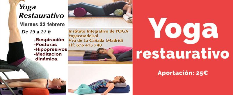 Yoga restaurativo 23 febrero
