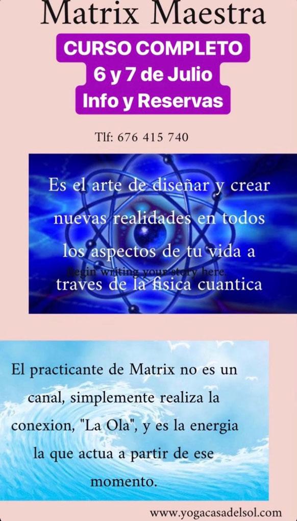 Matrix Maestra Yoga Casa del Sol Villanueva de la Cañada