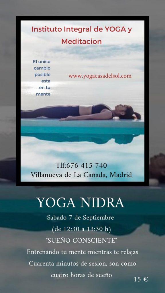 Yoga Nidra. Yoga Casa del Sol. Villanueva de la Cañada